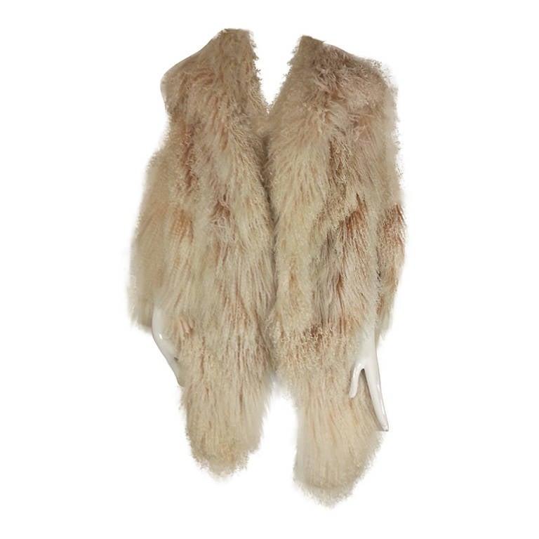 1970s Adrienne Landau for Revillon Natual Mongolian Cocoon Coat