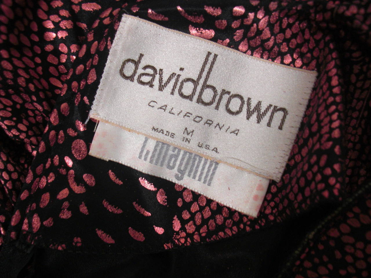 1980s David Brown for IMagnin Copper Snakeskin Jump Suit For Sale 4