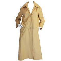Hermes Coated Cotton Trench Coat Late 1950s