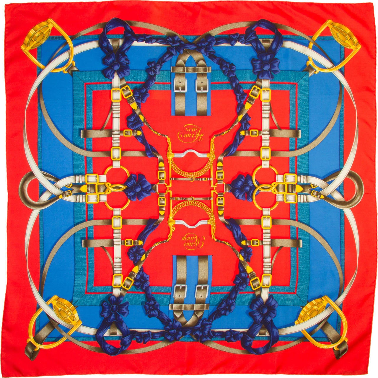 Hermes Scarf Quot Grand Manege Quot By Henri D Origny At 1stdibs