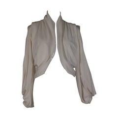 Balenciaga Ivory Jacket in Triple Ply Silk Jersey