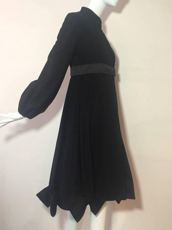 Black Givenchy Cashmere Princess Coat with Bows at Hem For Sale