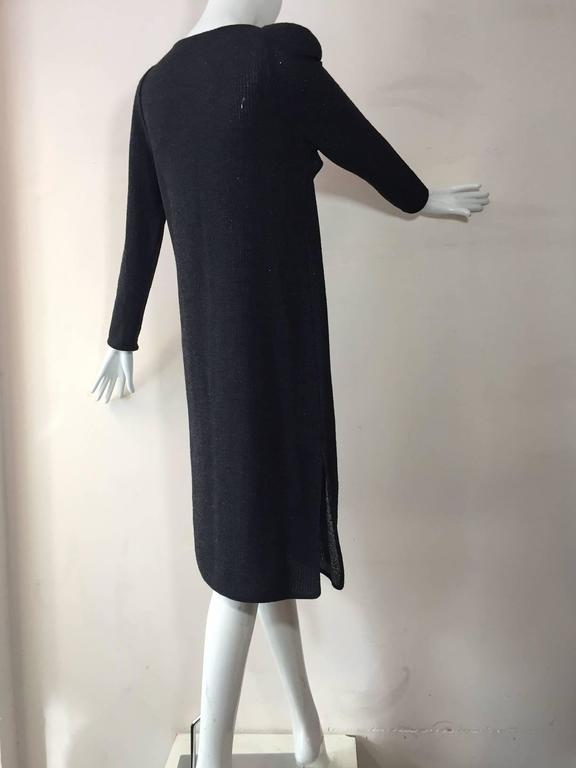 1980s Chloe Wool and Lurex Knit in Silver and Gray In Excellent Condition For Sale In San Francisco, CA