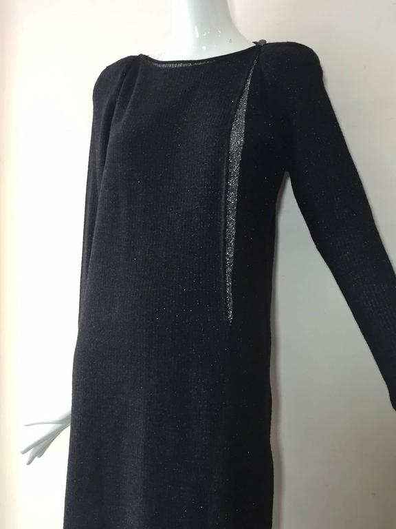 1980s Chloe Wool and Lurex Knit in Silver and Gray For Sale 1