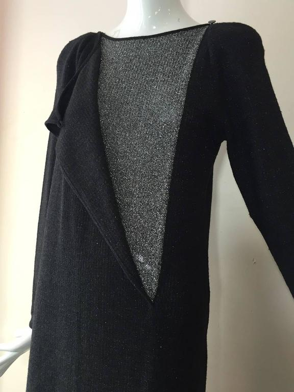 Women's 1980s Chloe Wool and Lurex Knit in Silver and Gray For Sale