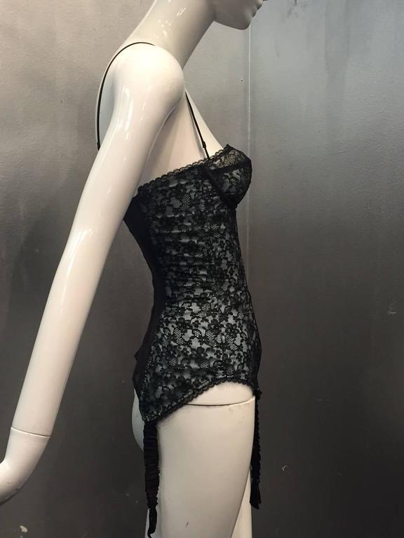 1950s Star-Paris Merry Widow Lace Lingerie w/ Attached Garters  3