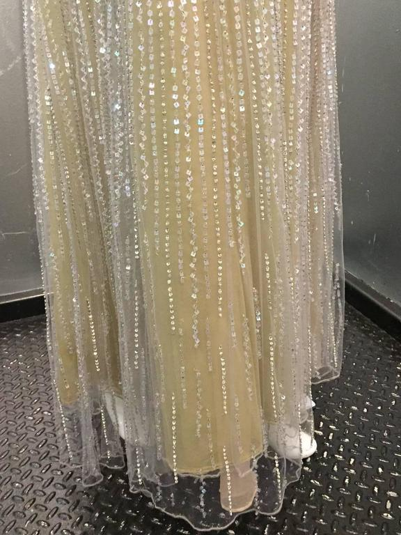 Oscar de La Renta Etherial Beaded and Sequined Tulle Gown  For Sale 1