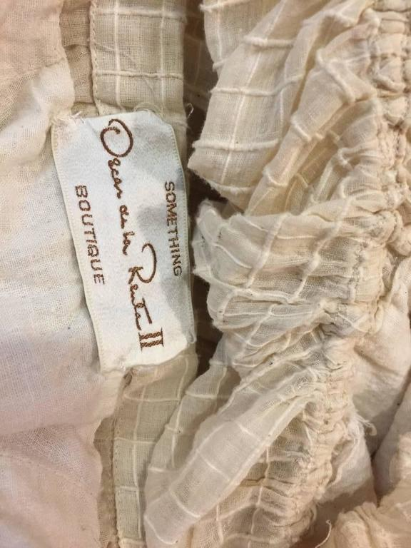1960s Oscar De La Renta Three-Piece Cotton Lace and Silk Ruffled Sundress  9