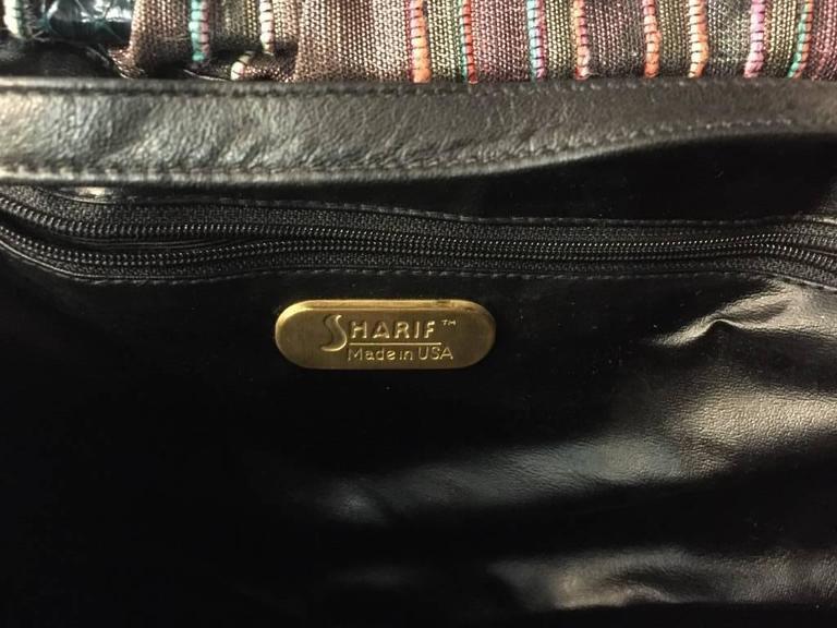 1980s Sharif Multicolored Brocade Clutch Bag w Snakeskin Appliqués  For Sale 1