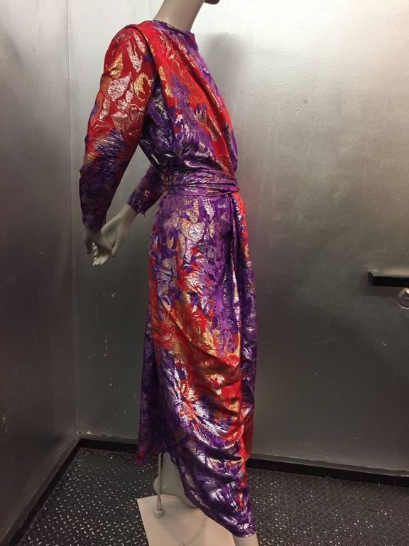 Image result for RED AND PURPLE BROCADE GOWN