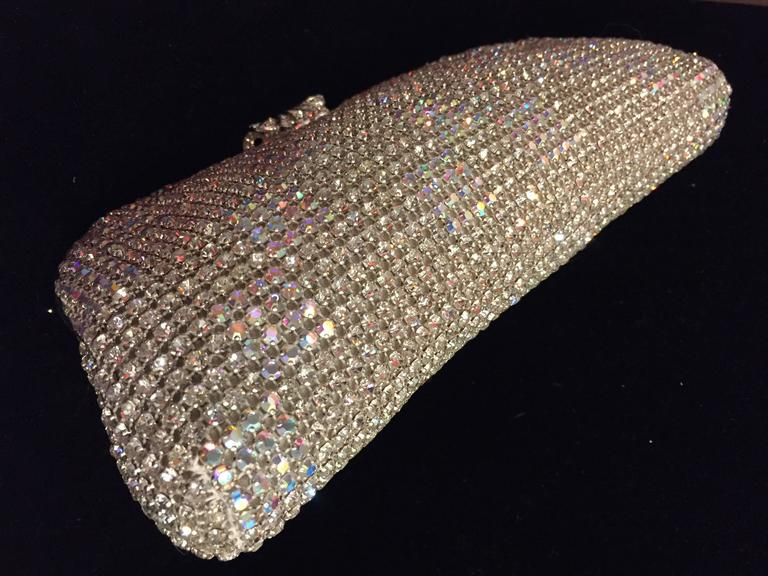 628396b476a25 Brown 1950s Johann Becker Rhinestone Covered Convertible Evening Bag For  Sale