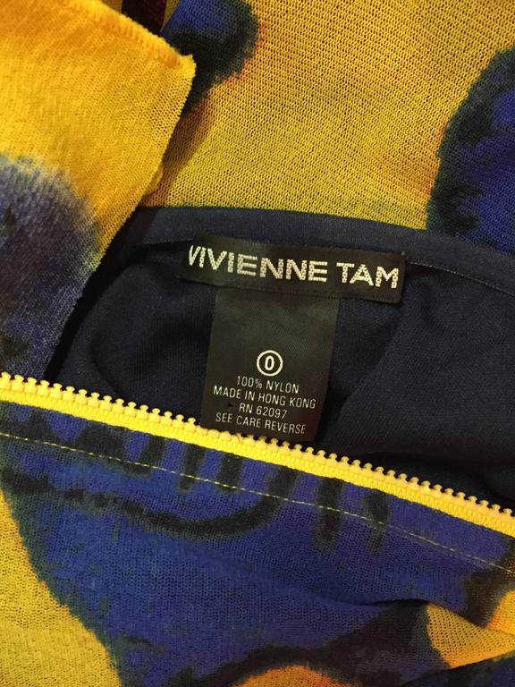 Vivienne Tam Yellow Printed Mesh Dragon Ensemble  10