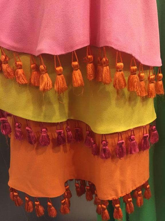 1960's Fern Violette Tropical Cabana Hostess Dress  3
