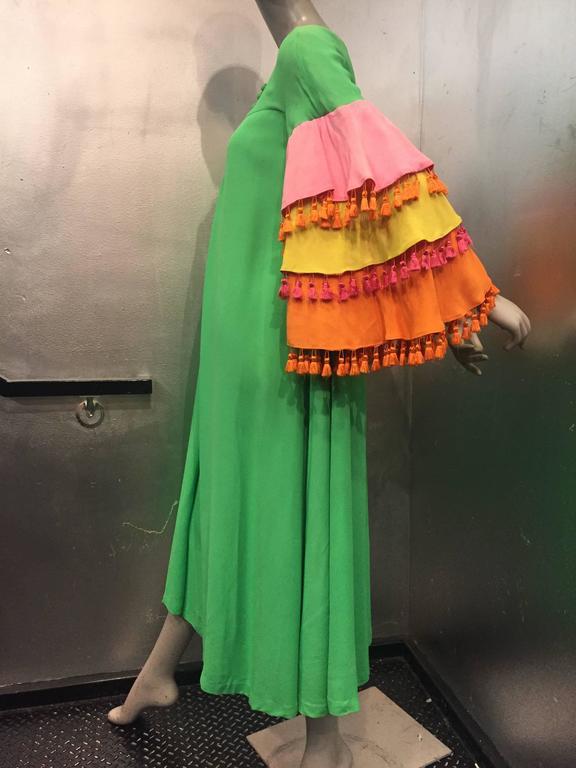 1960's Fern Violette Tropical Cabana Hostess Dress  6
