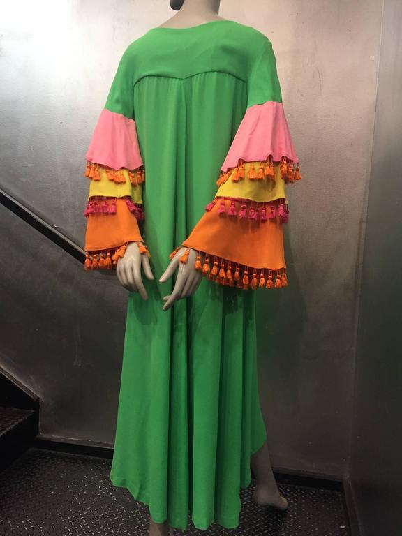 1960's Fern Violette Tropical Cabana Hostess Dress  4