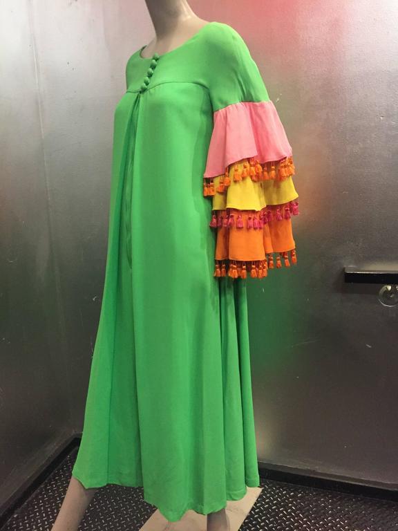 1960's Fern Violette Tropical Cabana Hostess Dress  2