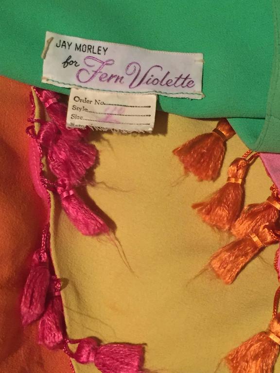 1960's Fern Violette Tropical Cabana Hostess Dress  8