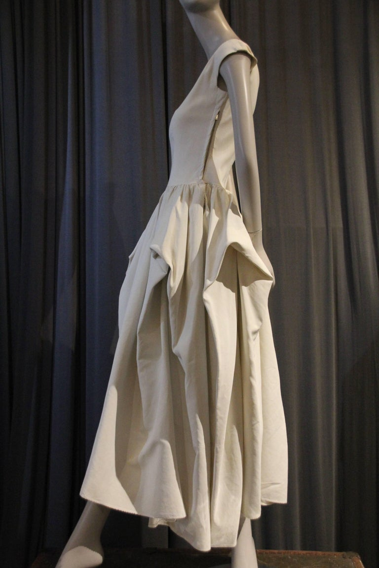 Late 1940s Ceil Chapman Ivory Rayon Faille Ball Gown w Gathered Pouf ...