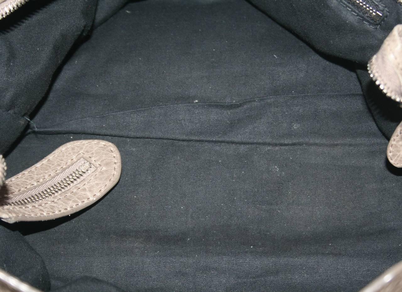 Balenciaga Taupe Wrinkled Lambskin Arena Giant City Bag 8