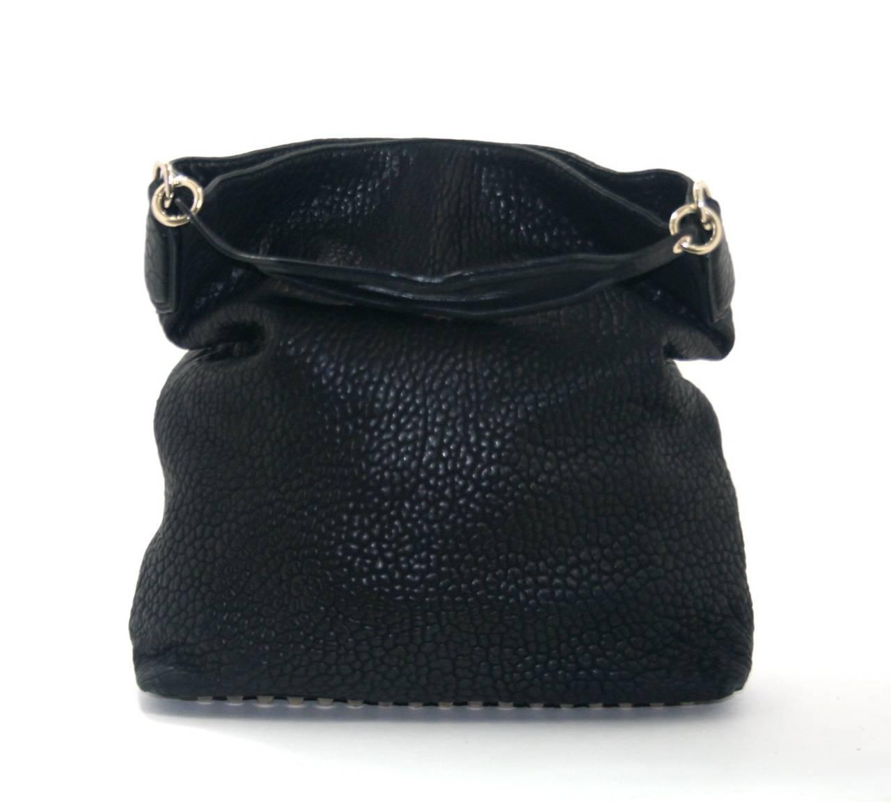 Alexander Wang Darcy Stud Bottom Hobo in Black Pebbled Leather 2