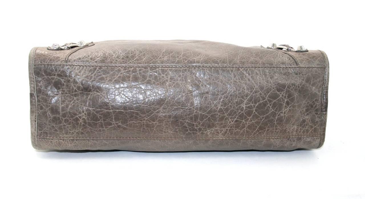 Balenciaga Taupe Wrinkled Lambskin Arena Giant City Bag 4