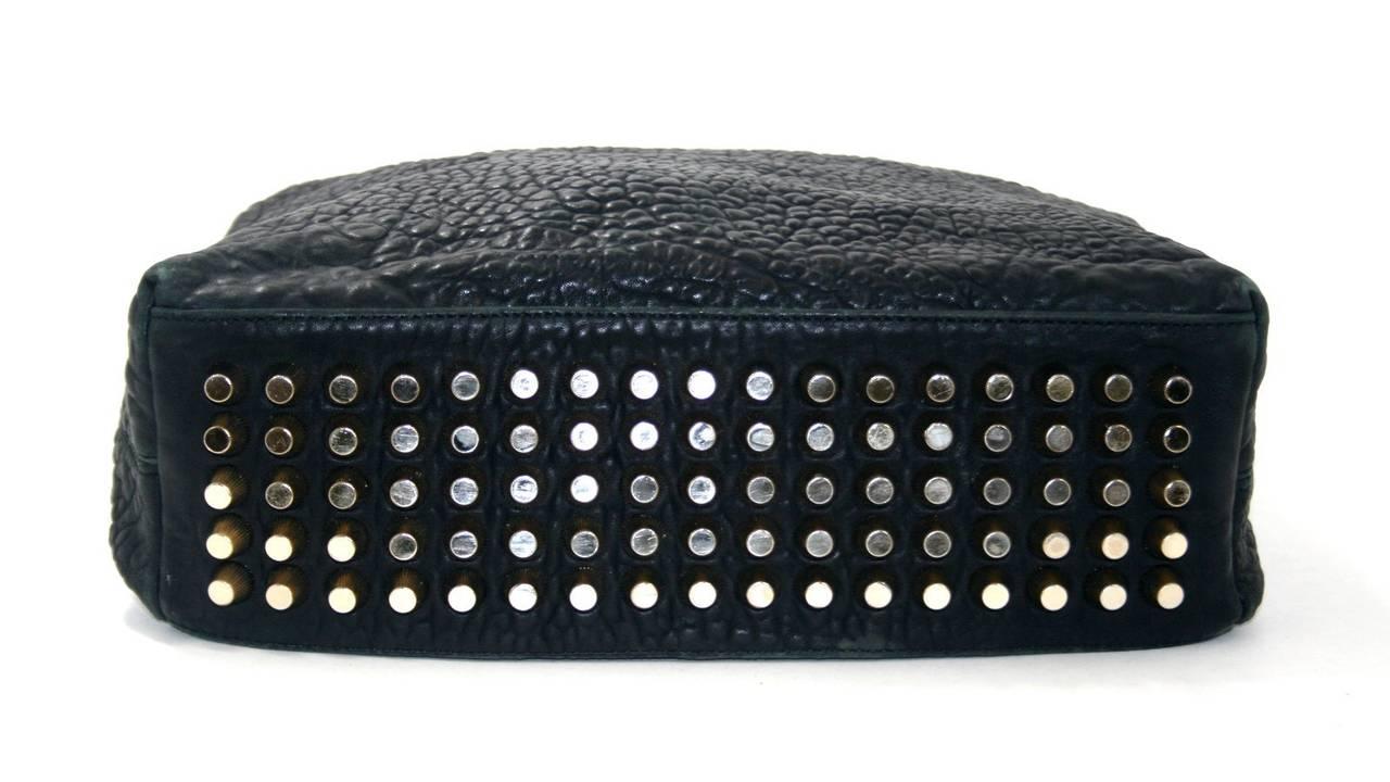 Alexander Wang Darcy Stud Bottom Hobo in Black Pebbled Leather 4
