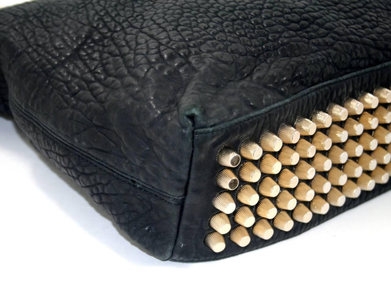 Alexander Wang Darcy Stud Bottom Hobo in Black Pebbled Leather 5