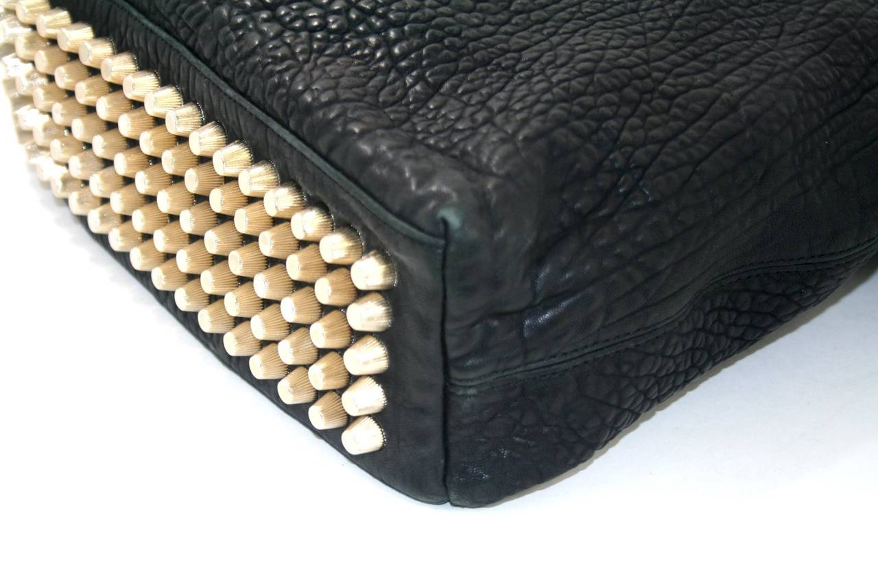 Alexander Wang Darcy Stud Bottom Hobo in Black Pebbled Leather 6