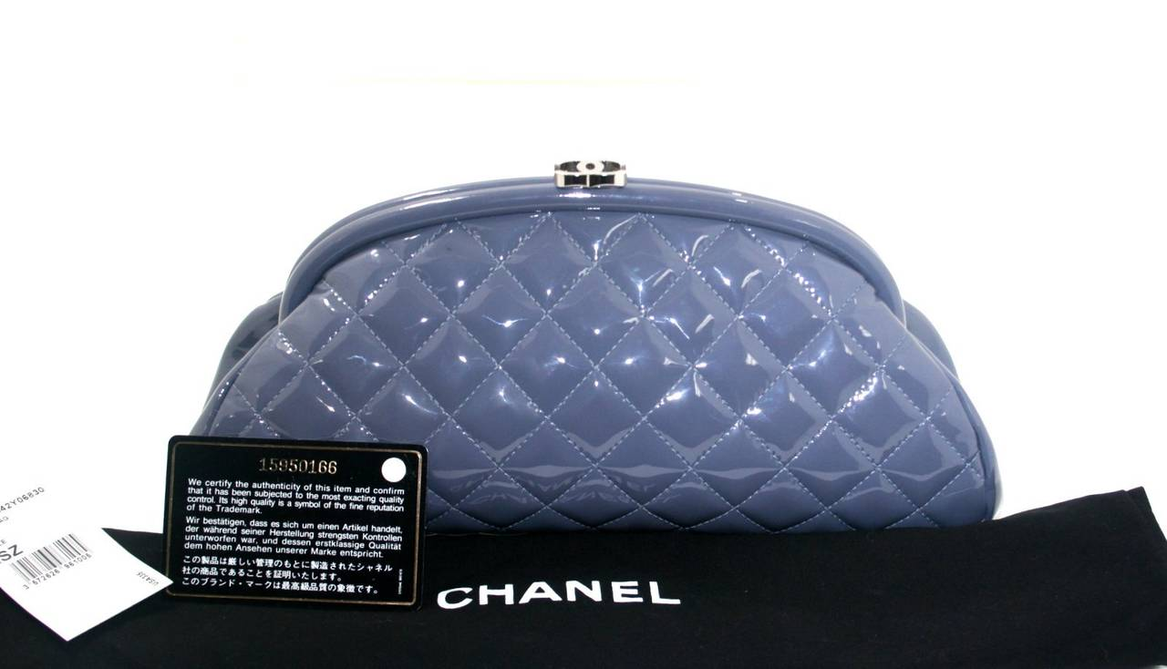 Chanel Lavender Timeless Clutch in Patent Leather 8