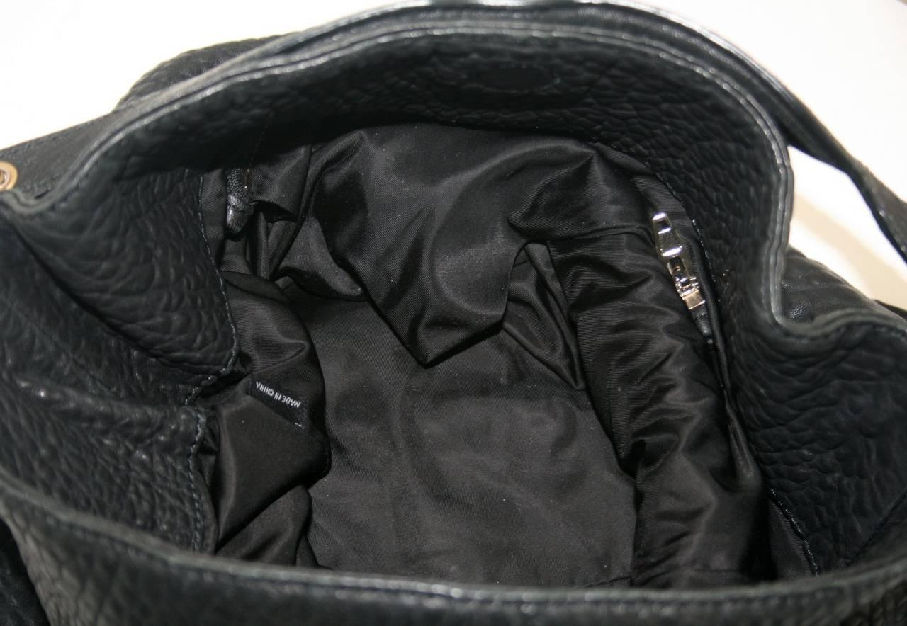 Alexander Wang Darcy Stud Bottom Hobo in Black Pebbled Leather 8