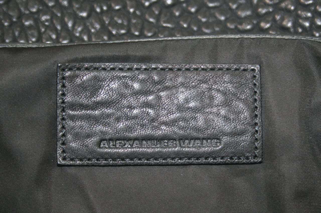Alexander Wang Darcy Stud Bottom Hobo in Black Pebbled Leather 9