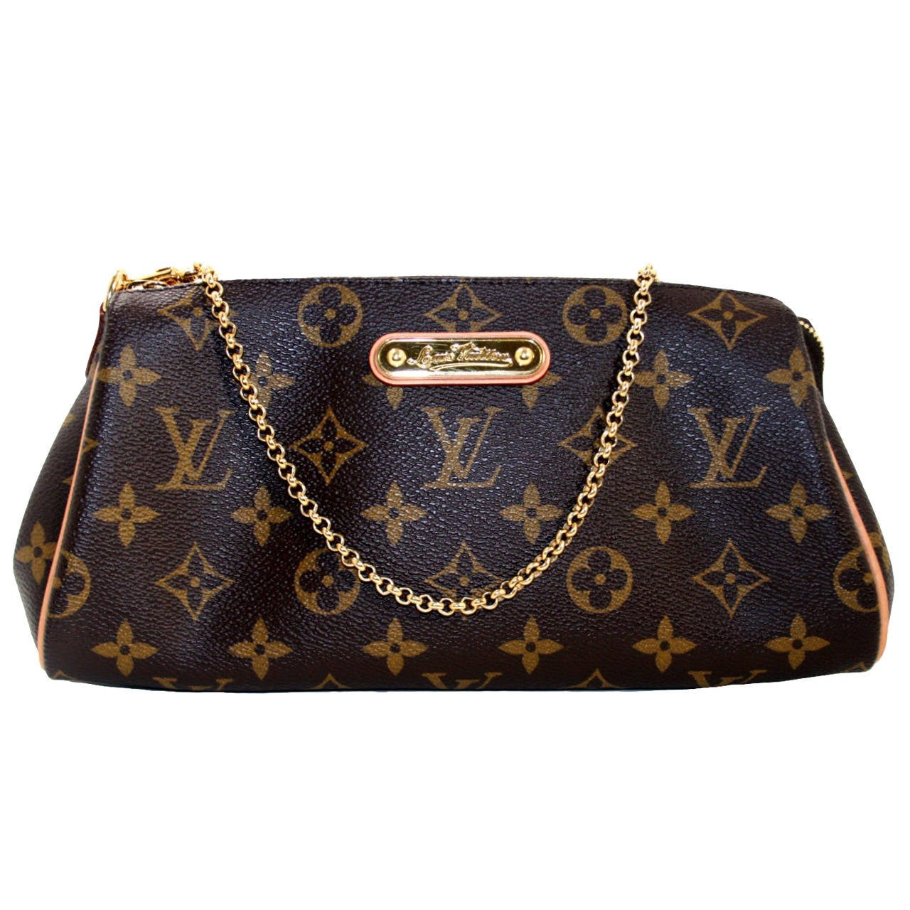 Louis Vuitton Monogram Eva Clutch Crossbody Bag at 1stdibs