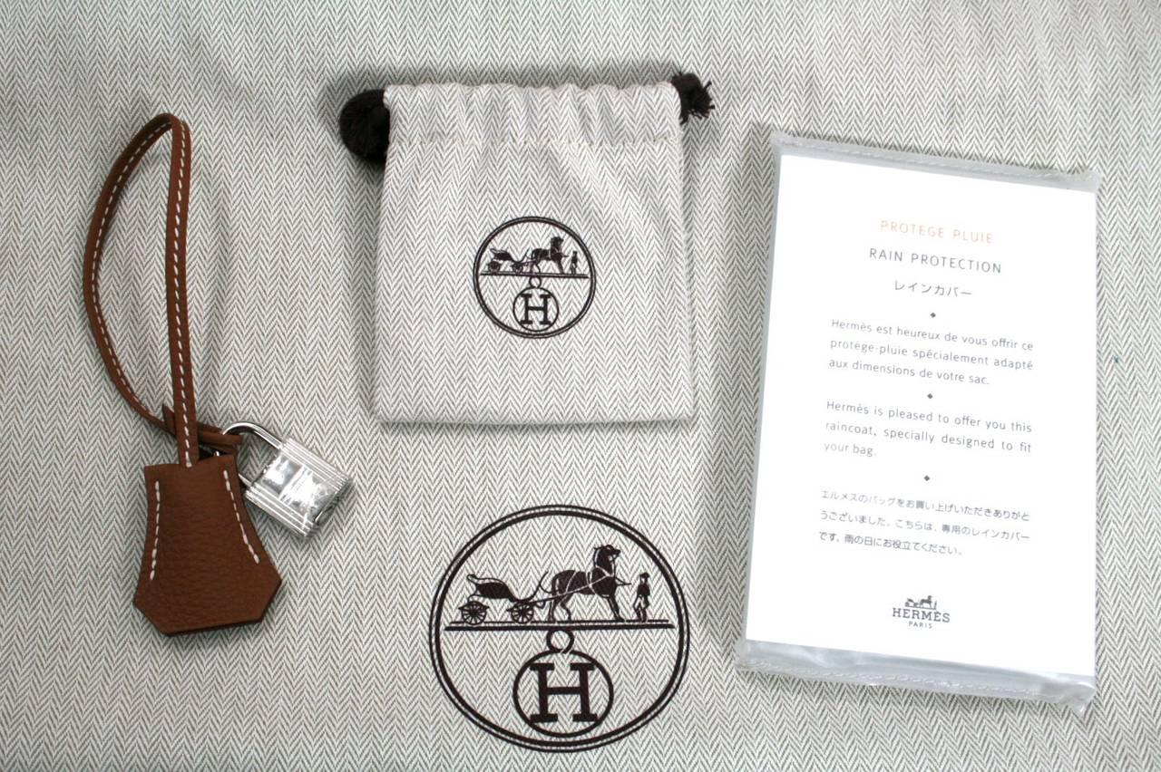 Hermes Birkin Bag in Gold Togo Leather PHW, 35 cm 10