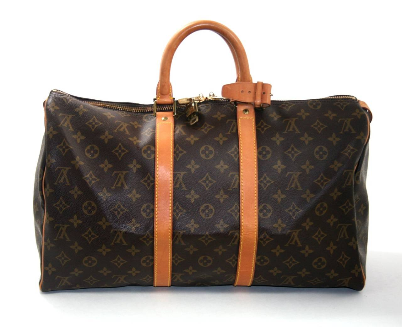 louis vuitton monogram keepall 45 at 1stdibs. Black Bedroom Furniture Sets. Home Design Ideas