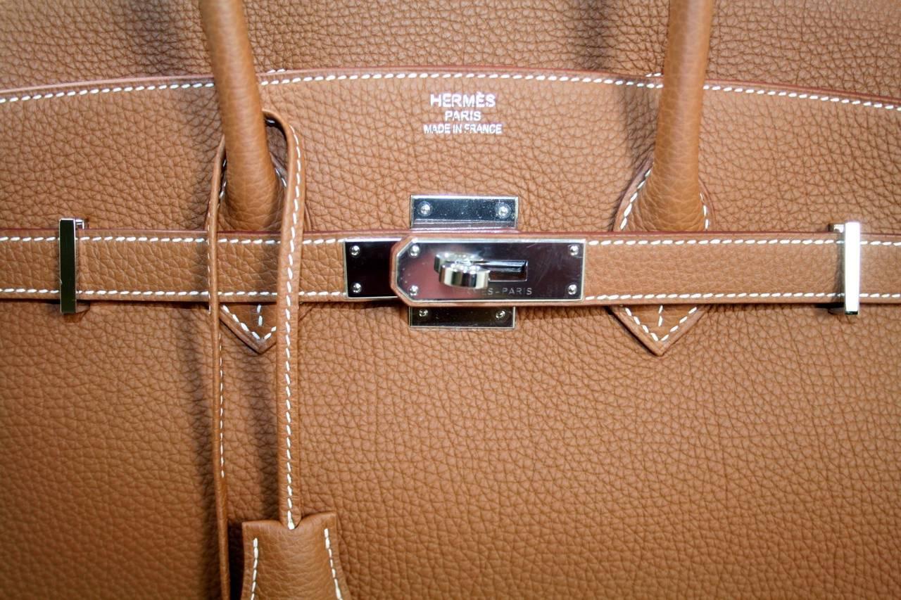 Hermes Birkin Bag in Gold Togo Leather PHW, 35 cm 6