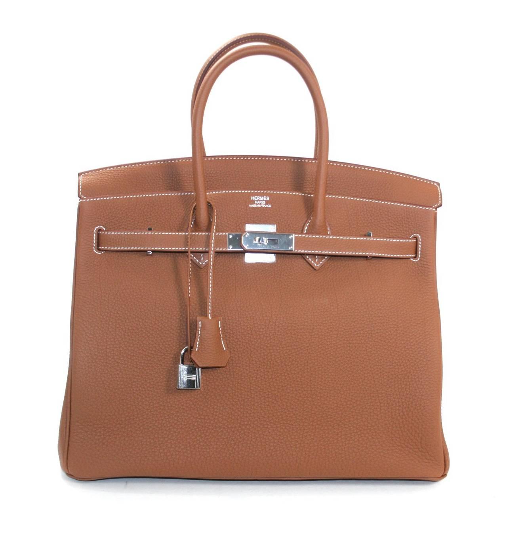 Hermes Birkin Bag in Gold Togo Leather PHW, 35 cm 7