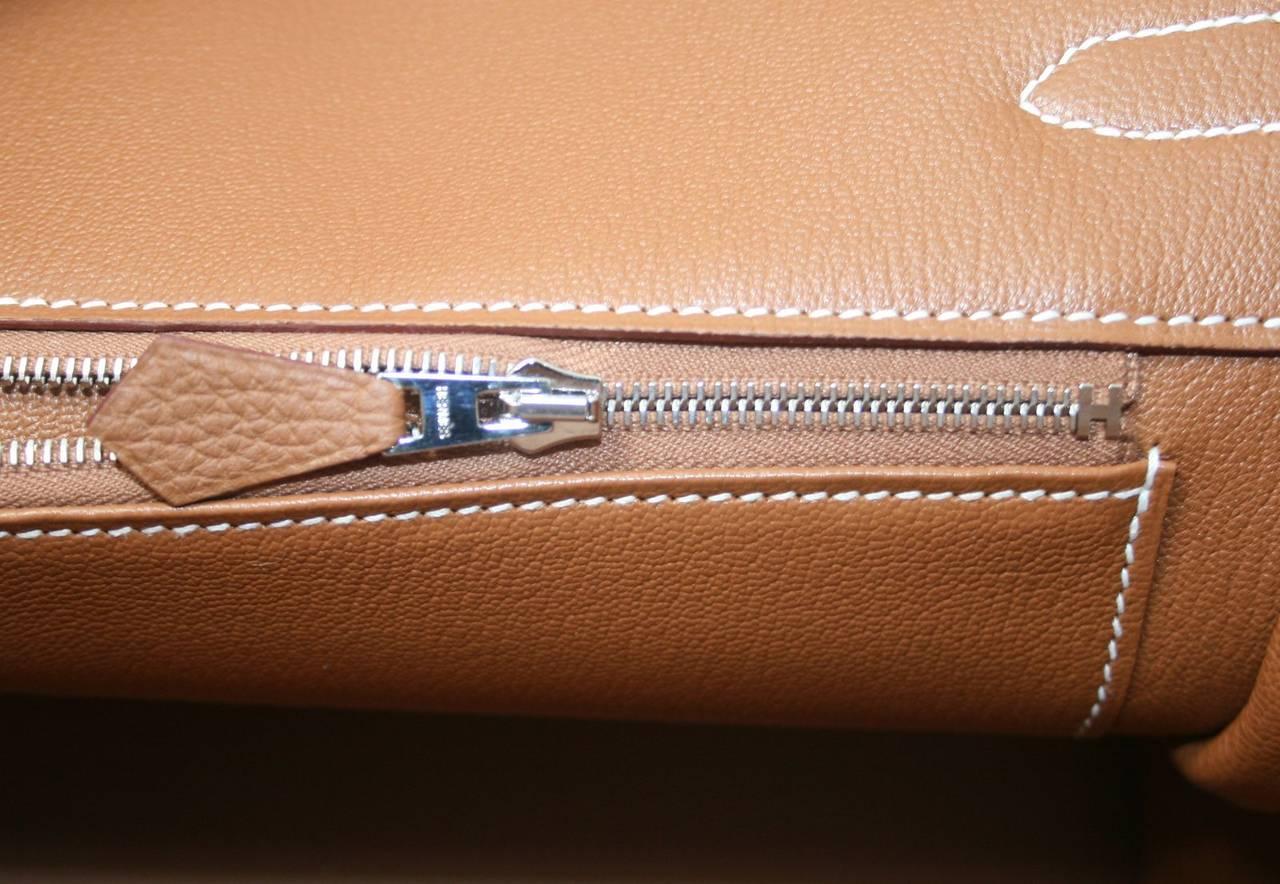Hermes Birkin Bag in Gold Togo Leather PHW, 35 cm 9