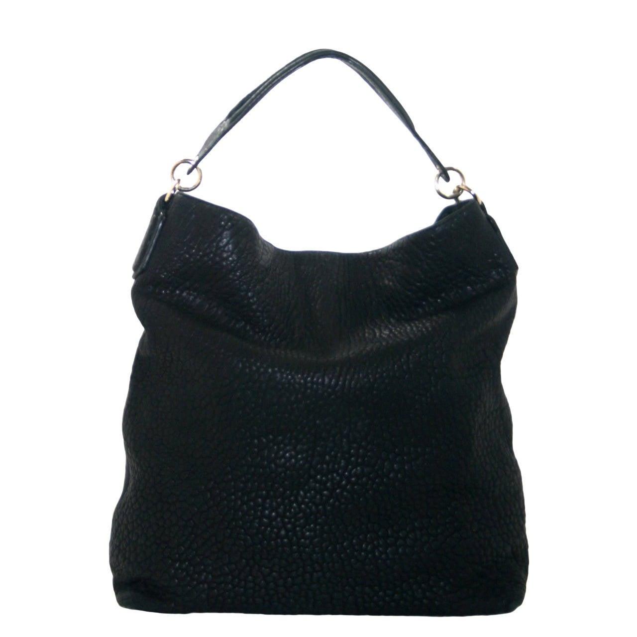 Alexander Wang Darcy Stud Bottom Hobo in Black Pebbled Leather 1