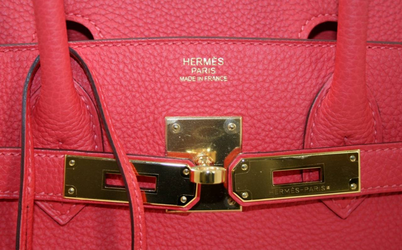 hermes garden party tote price - Hermes Rouge Pivoine Togo 35 cm Birkin Bag with Gold Hardware at ...