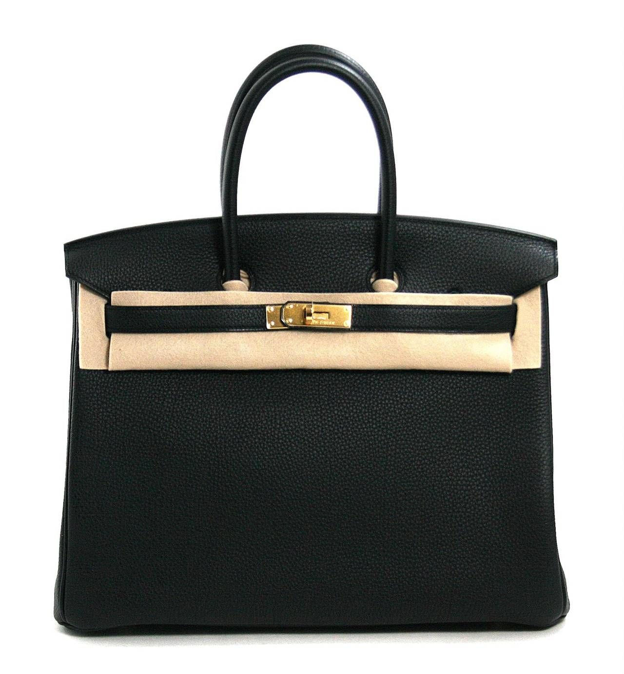 Herm��s Black Togo Leather 35 cm Birkin Bag Gold HW at 1stdibs