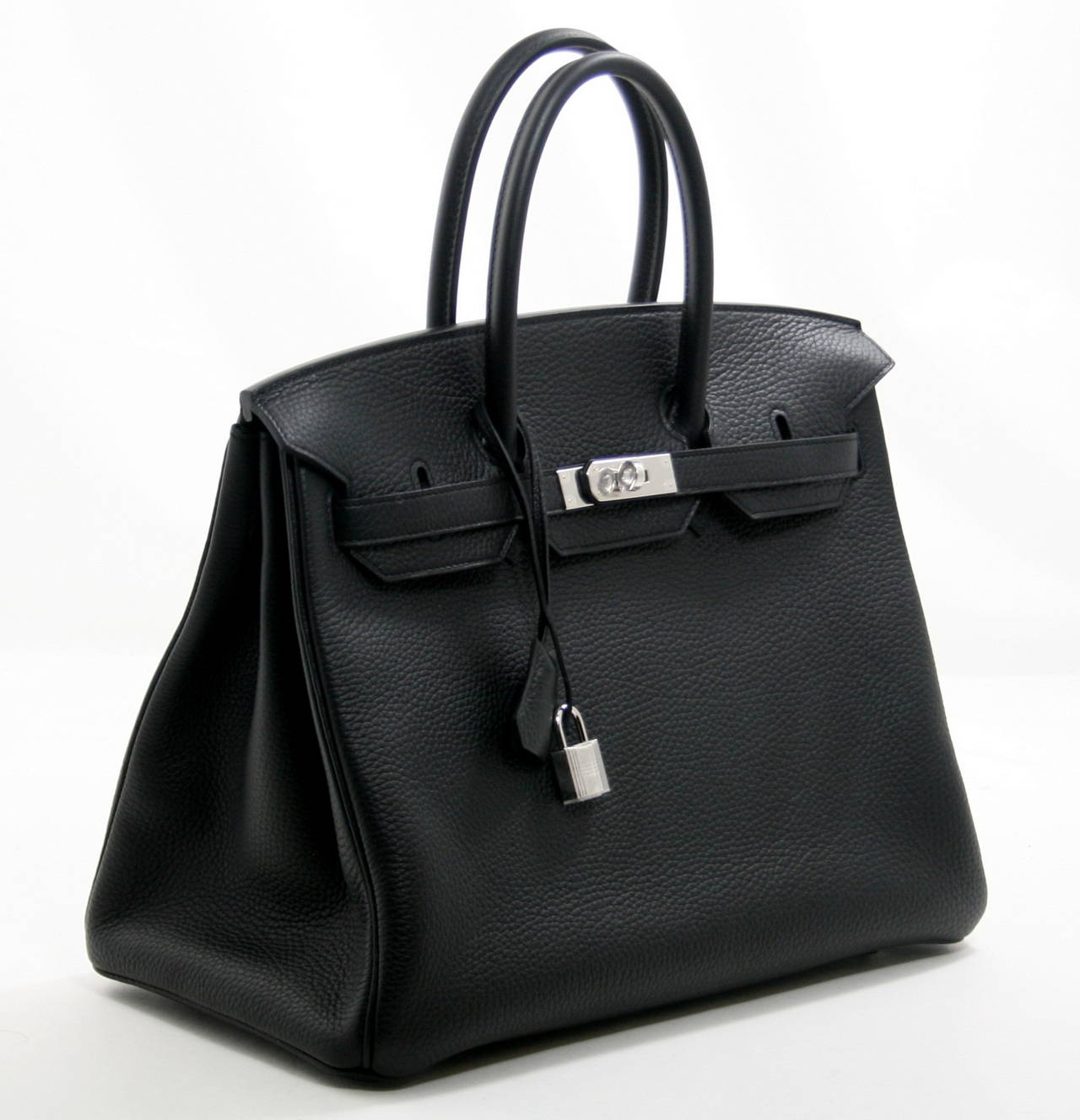 Herm��s Black Togo Leather 35 cm Birkin Bag PHW at 1stdibs