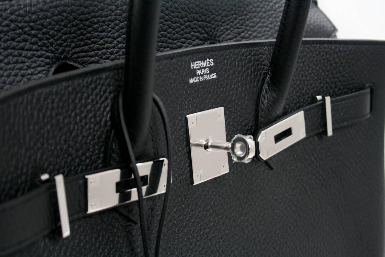 f00d7a2b12 Herm¨¨s Black Togo Leather 35 cm Birkin Bag PHW at 1stdibs