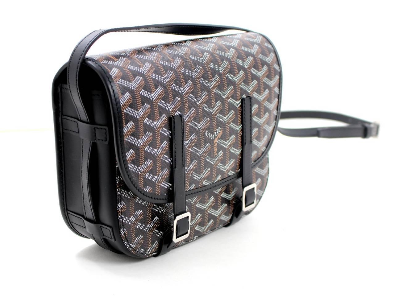 Goyard Black Belvedere Small Messenger Bag at 1stdibs