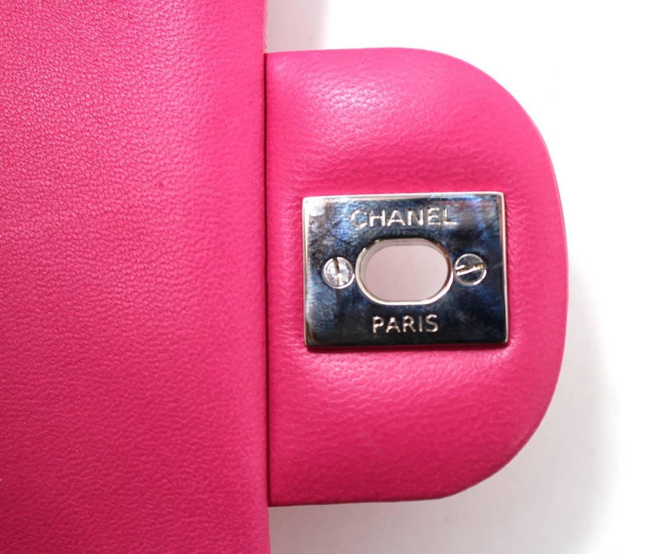 Chanel Pink Patent Mini Classic Flap Bag with Silver HW 9