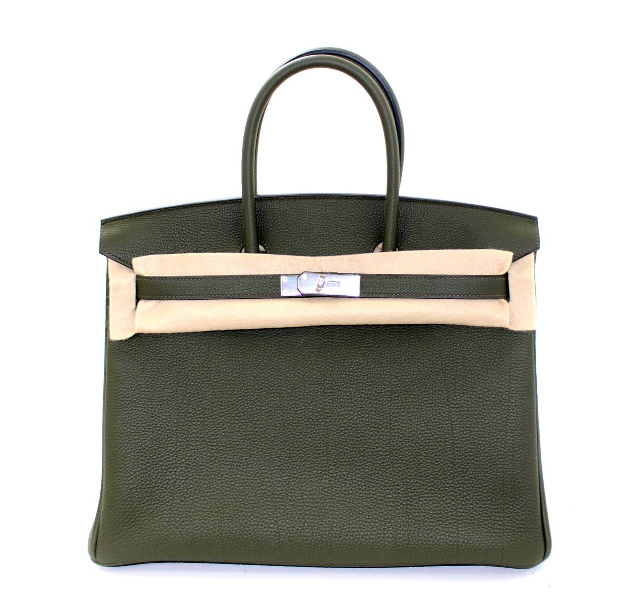Hermes Birkin Bag in Vert Olive green Togo Leather, 35 cm size 9