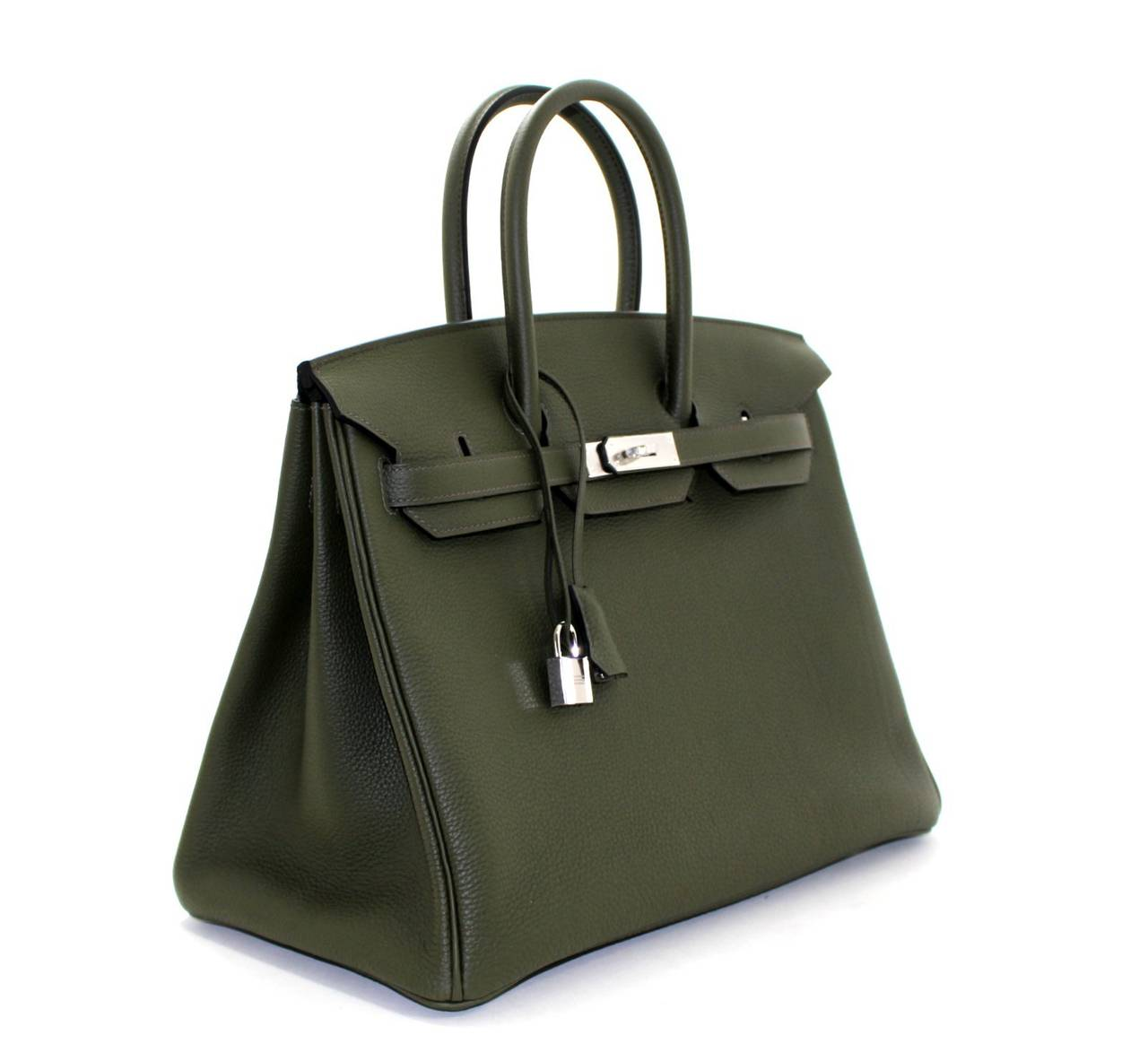 Hermes Birkin Bag in Vert Olive green Togo Leather, 35 cm size 3
