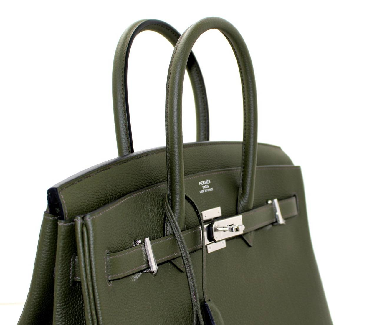 Hermes Birkin Bag in Vert Olive green Togo Leather, 35 cm size 5