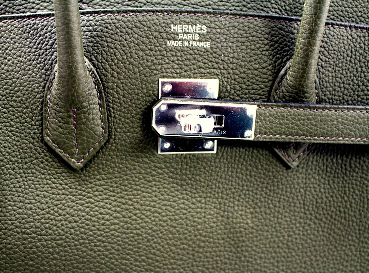 Hermes Birkin Bag in Vert Olive green Togo Leather, 35 cm size 6