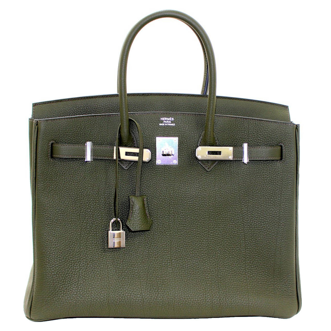 Hermes Birkin Bag in Vert Olive green Togo Leather, 35 cm size 1