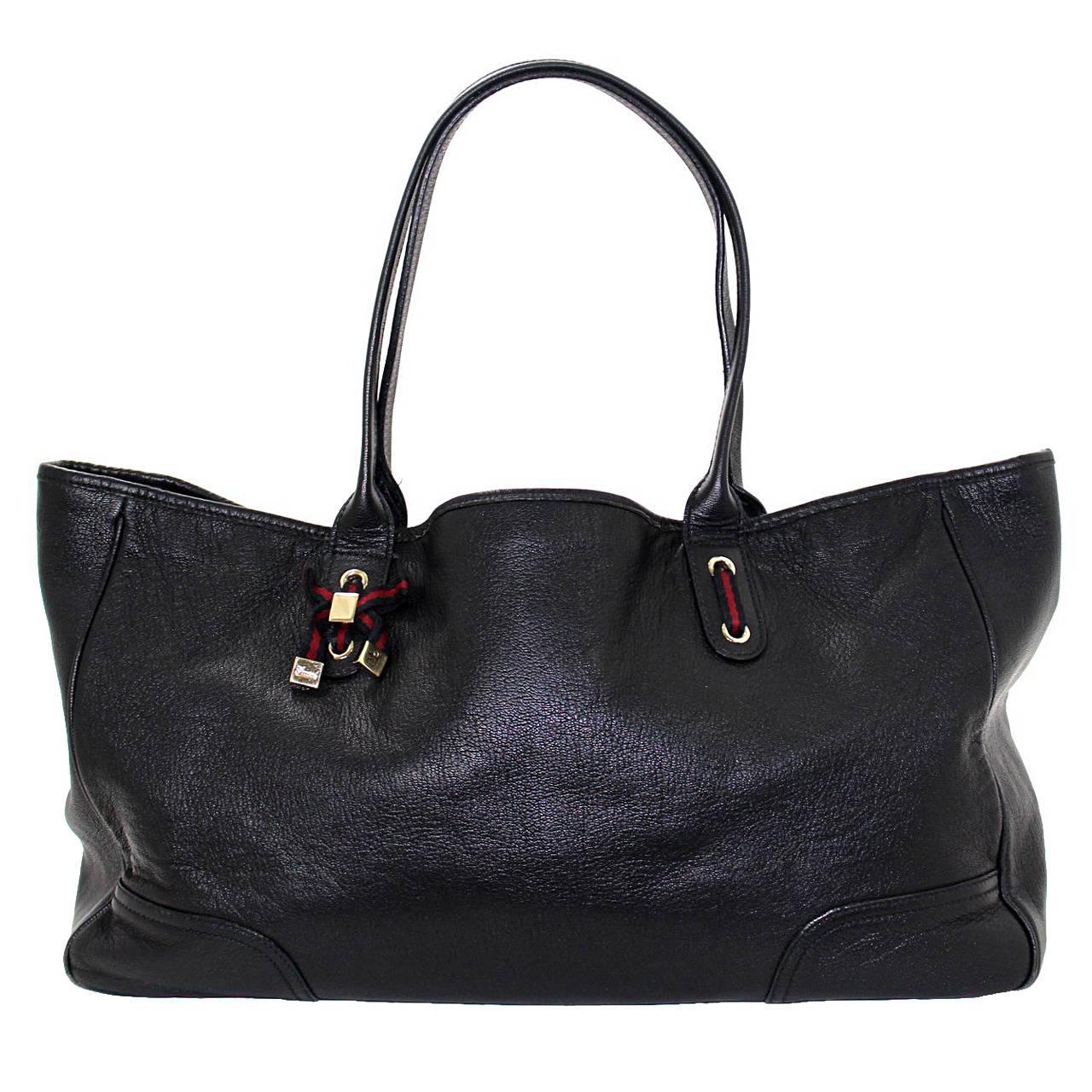 Gucci Black Leather Slouchy Tote Bag- Large at 1stdibs